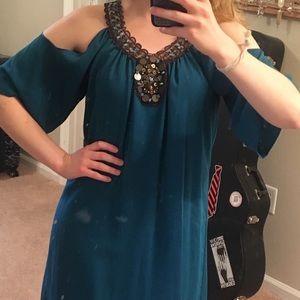 🥂2 for $20!🥂 Cold-shoulder teal dress